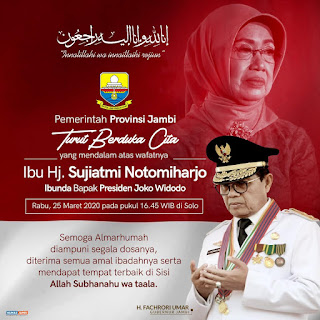 Ibunda Jokowi Wafat, Fachrori Sampaikan Duka yang Mendalam