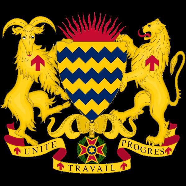Logo Gambar Lambang Simbol Negara Chad PNG JPG ukuran 600 px