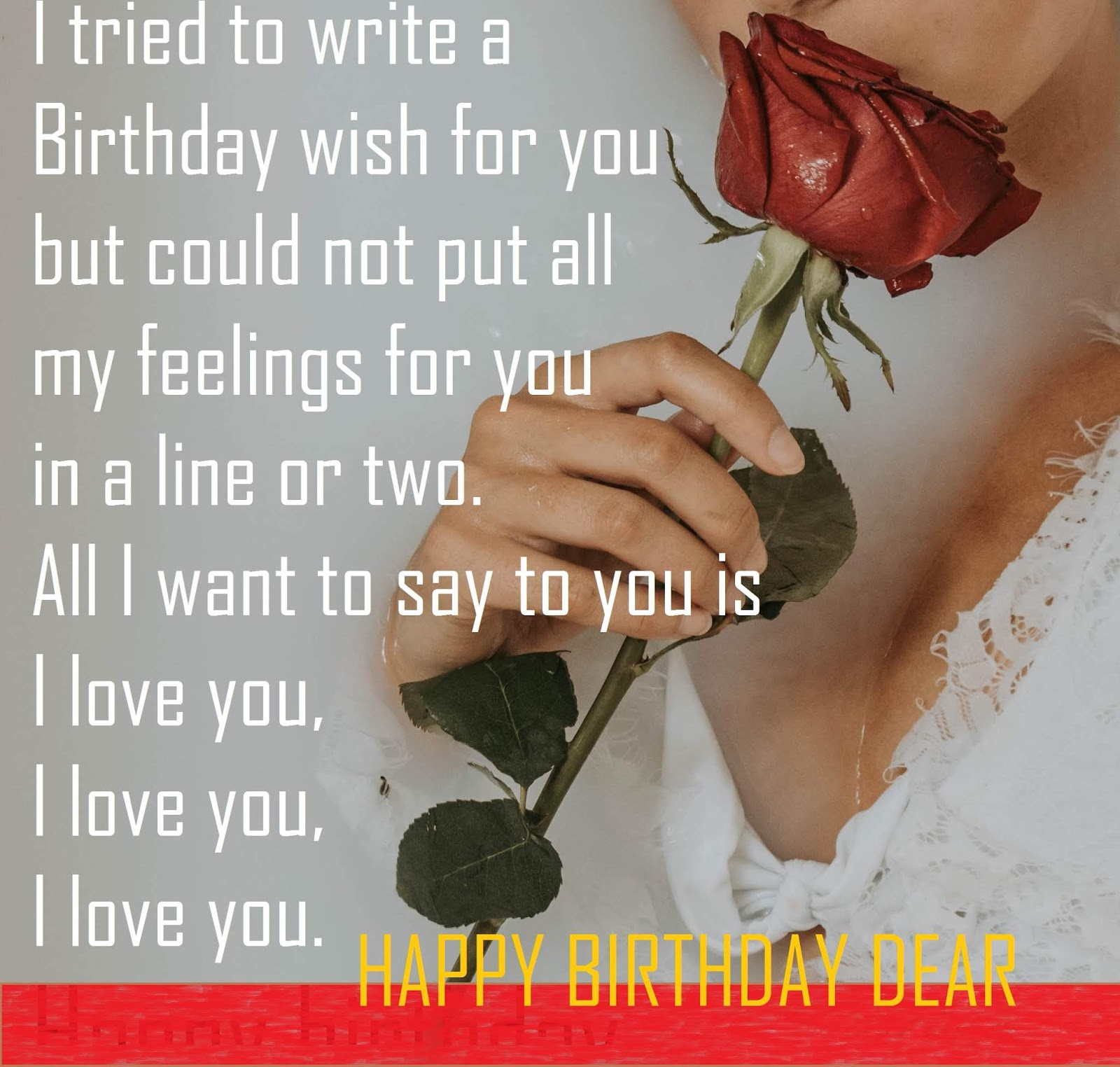 I Tried To Write A Birthday Wish For You But Could Not Put All M Feelings In Line Or Two Want Say Is