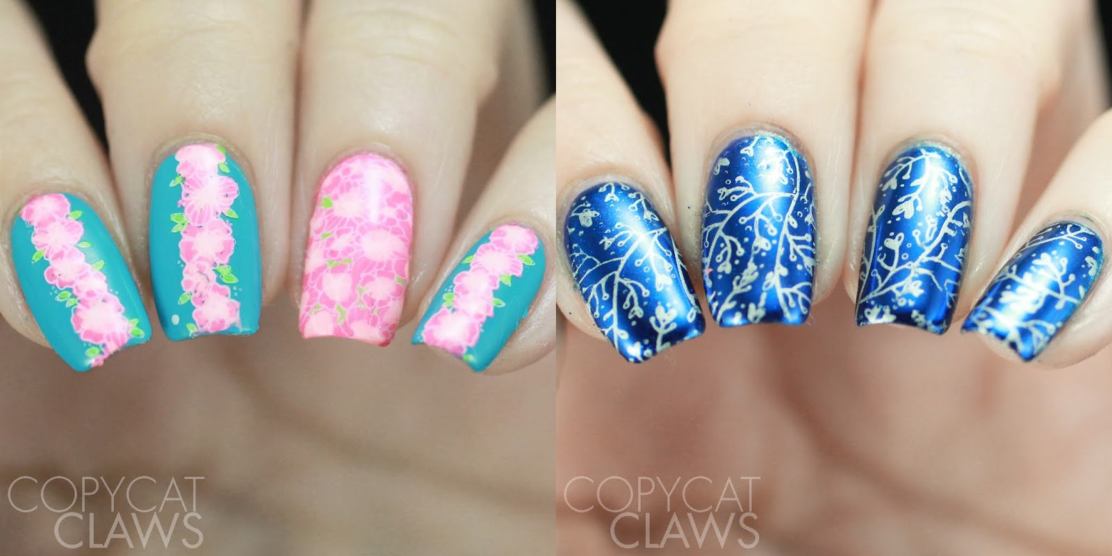 Copycat Claws Maniology Nails By Miri Bm Xl222 Stamping Plate Review