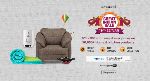 Amazon great Indian sale on Home and kitchen products like furniture, cooking and utensils