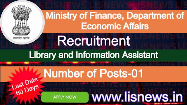 Library and Information Assistant at Ministry of Finance, Department of Economic Affairs