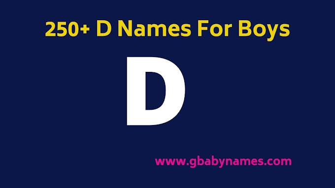 D Names For Boys