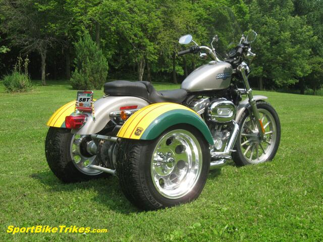 '08 H-D 883 Sportster Custom Sportbike Trike Motorcycle 3 Wheel Conversion