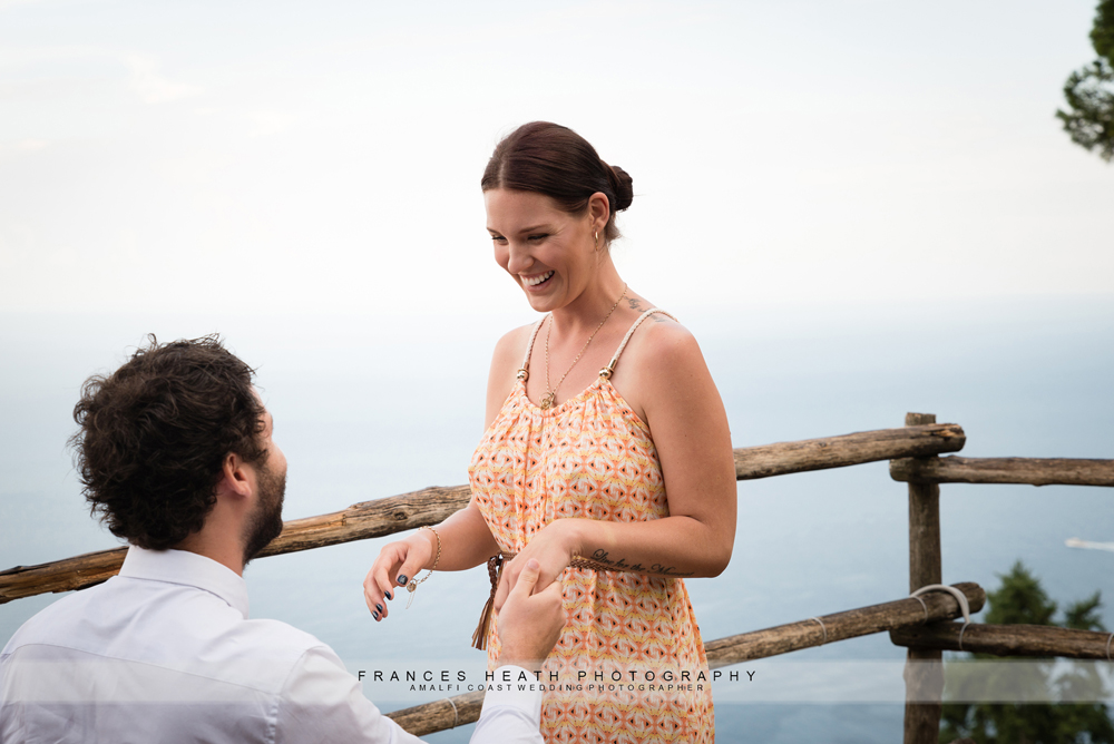 Romantic wedding proposal Ravello