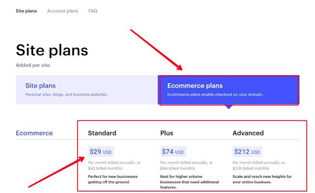Webflow E-commerce plan