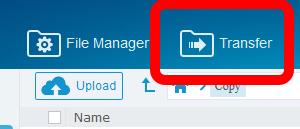 Кнопка Transfer в MultCloud.com