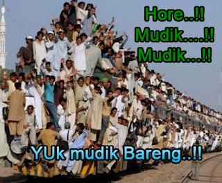 gambar mudik lucu naik kereta