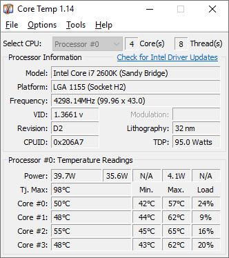 Core Temp Download Free For Windows 10,7,8/8.1 PC