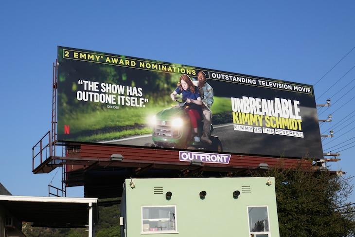 Unbreakable Kimmy Schmidt vs Reverend Emmy nominee billboard