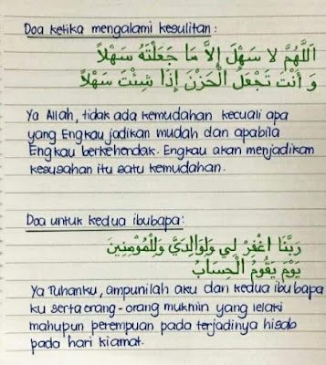 doa ibu bapa doa hadapi kesulitan