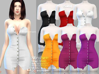 Snap Dress for The Sims 4