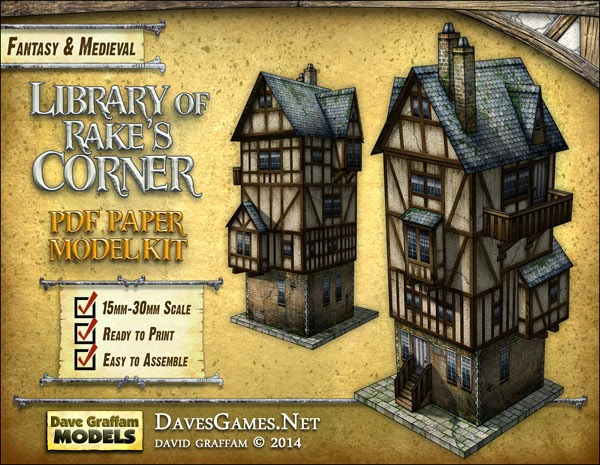Tabletop Fix: Dave Graffam Models - Library of Rake's Corner