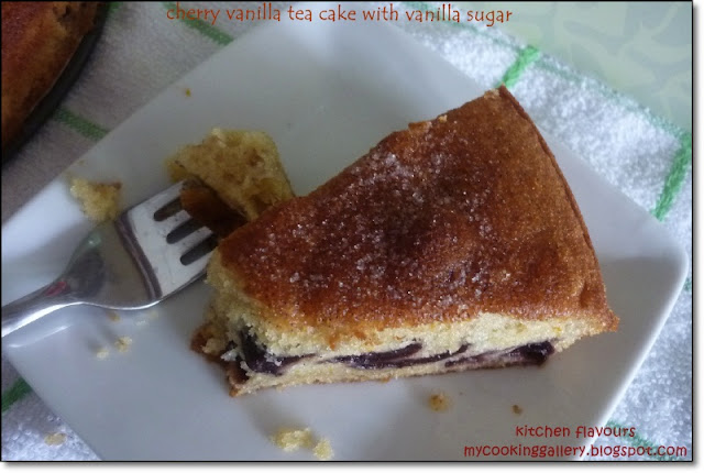 Sweet and light cookbook based on - Though Some Of The Cherries Stays Throughout The Cake Most Of It