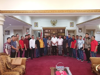 DPRD Manado Berkunjung ke Gubernur; Suyanto Layangkan Pertanyaan Reklamasi dan Nasib Nelayan