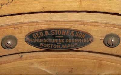 Stone & Son Drum Badge, circa mid 1910s