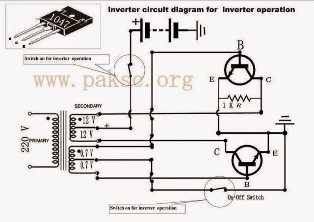 simple 50 watt 12 vdc to 220 vac power inverter circuits diagram lab