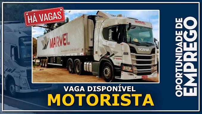 Transportadora Marvel abre vagas para Motorista Carreteiro e Truck