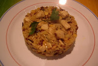 Arroz al curry y pollo