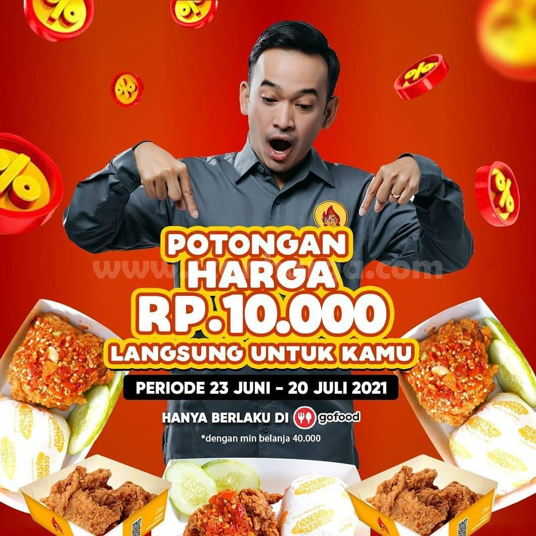 Promo GEPREK BENSU Potongan Harga Rp. 10.000 Bareng GOFOOD