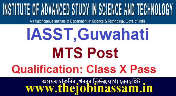 IASST,Guwahati Recruitment 2020