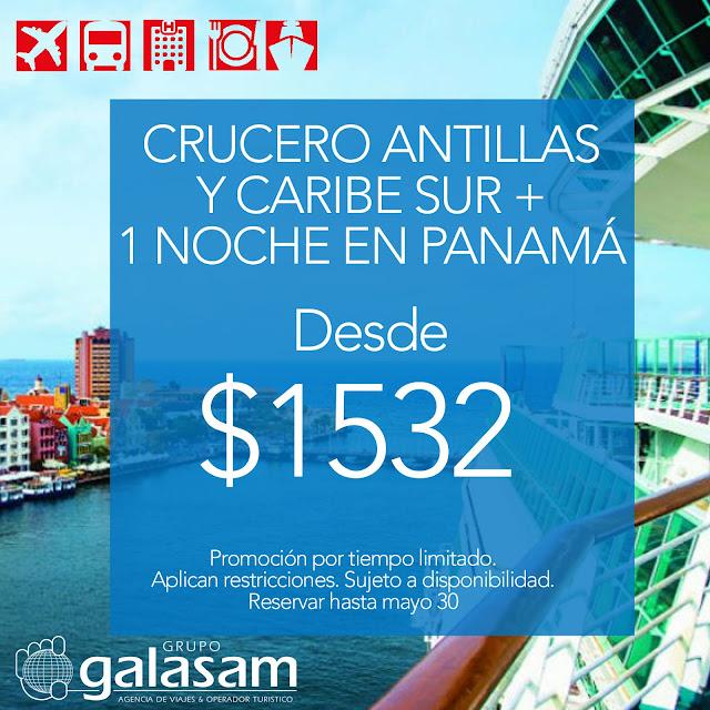 CRUCERO ANTILLAS Y CARIBE SUR  + 1 NOCHE EN PANAMÁ