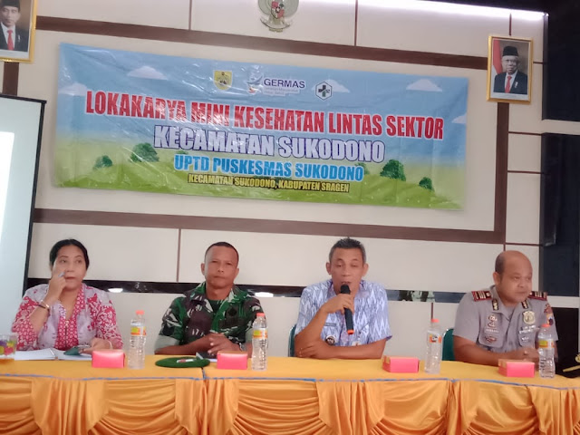 Kodim Sragen - Pertemuan Lintas Sektoral Bidang Kesehatan  Kecamatan Sukodono