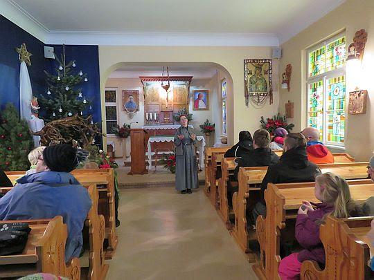 W kaplicy u Sióstr Urszulanek.