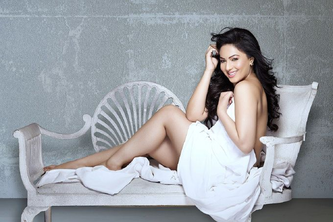 Actress Nikesha Patel Recent Photoshoot In White Top