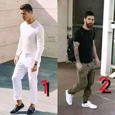 Who fine pass...1 #ronaldo 2 #Messi