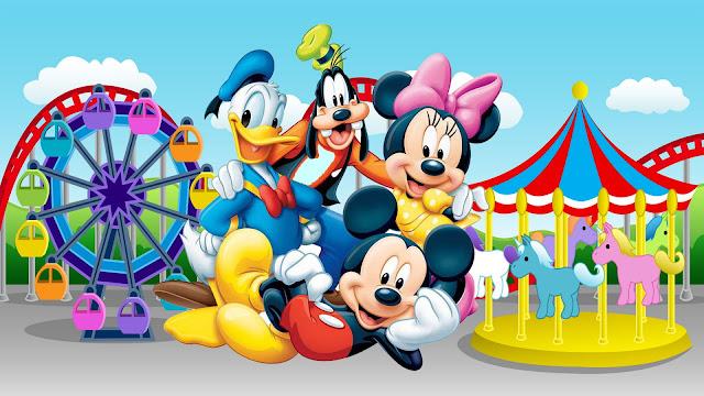 Papel de Parede A Turma do Mickey Mouse no Circo, hd, 4k.