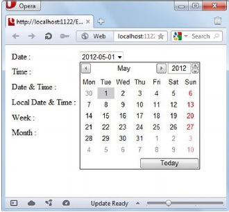 Date Time Picker in HTML5 - Developers Zone