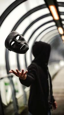 Male hacker photo