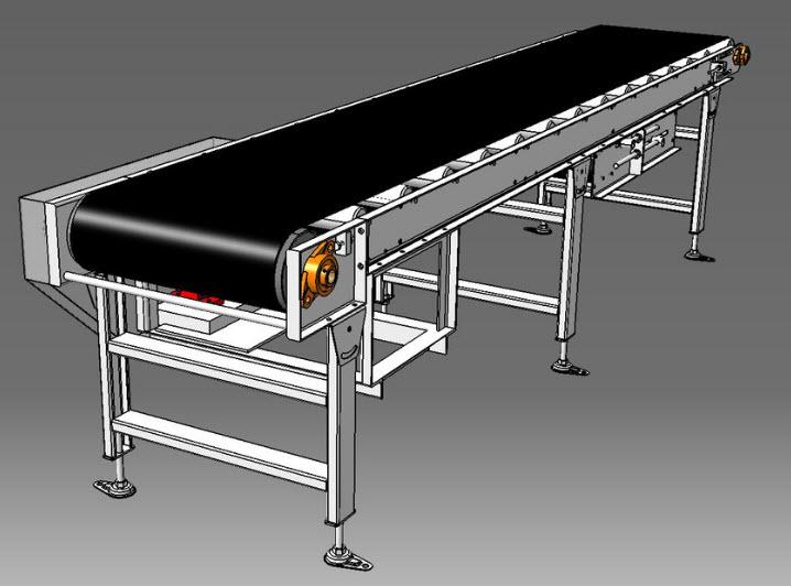 Standard belt conveyor 3d model cad flie for download for Modelli cad 3d free