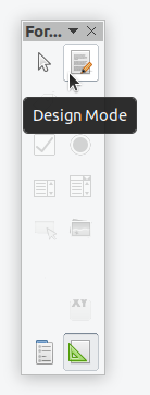 LibreOffice forms exit design mode