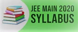 JEE Main 2020 Syllabus