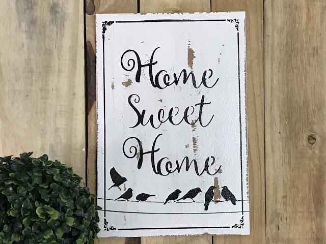 Placa Home Sweet Home Pássaros