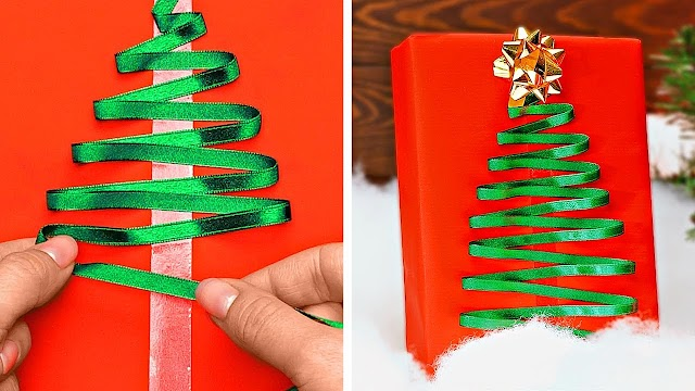 Festive Christmas gift wrapping ideas that you can easily make at home !