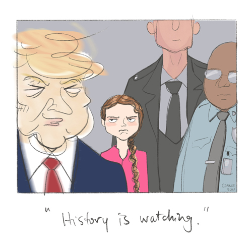 greta thunberg illustration climate summit reuters