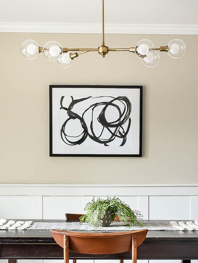 Gold Modern dining room light