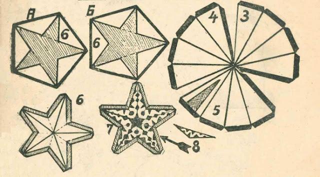 Шаблон для пятиконечной звезды