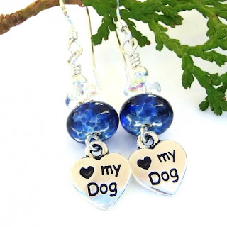 dog rescue earrings for women