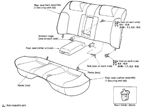 Rear Seat R32 GT-R