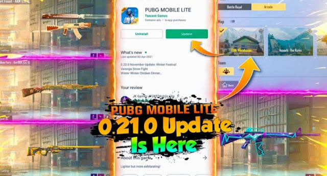 PUBG Lite 0.21.0 Global version all new features