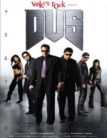 Poster Of Dus 2005 Hindi 550MB HDRip 720p ESubs HEVC Watch Online Free Download downloadhub.in