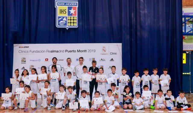 Finalizan clínicas de la Fundación Real Madrid en Puerto Montt