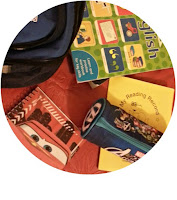 School stationery and books.