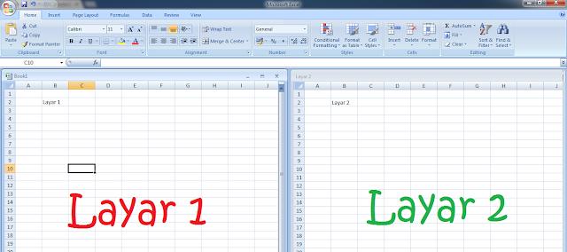 Cara Menggunakan Ms Exel Dengan 2 Lembar Kerja