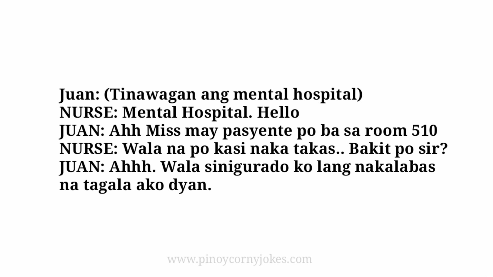 juan mental hospital joke time nars