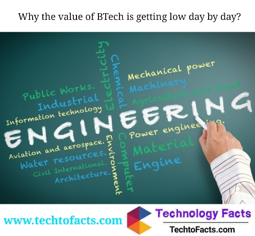 Why the value of B Tech is getting low day by day?